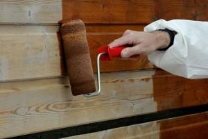 Защитное покрытие краской древесины от возгорания