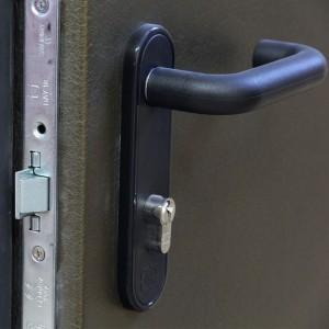 Нажимная ручка двери ДПМ-1 черного цвета