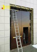 Распашные противопожарные ворота EI-60 с калиткой
