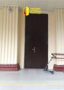Противопожарная, нестандартная, двупольная дверь с фрамугой, вид 2