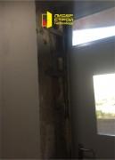 Изготовление и установка дверей с противопожарной фрамугой и огнеупорным окном