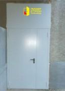 Двери с глухой и остеклённой фрамугой