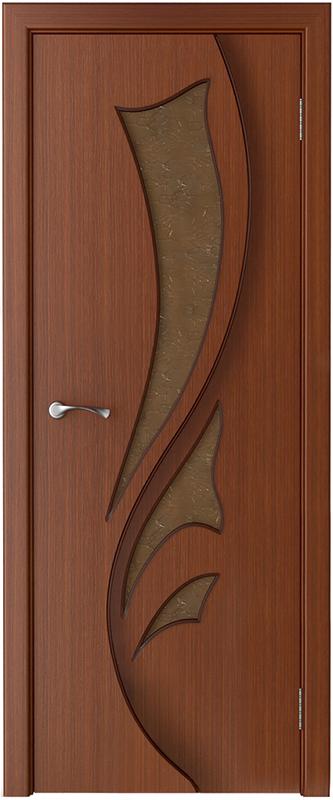 Двери шпонированные  со стеклом «Лидия-1»