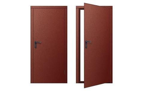 Дверь для бытовки металлическая правая