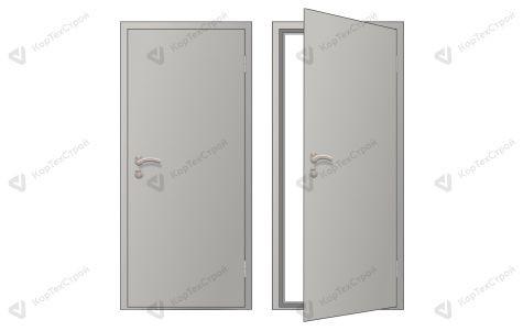 Глухая оргалитовая дверь правое открывание