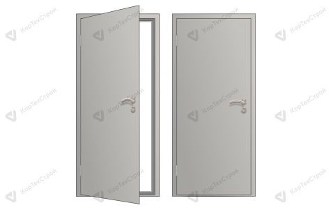 Глухая оргалитовая дверь левое открывание