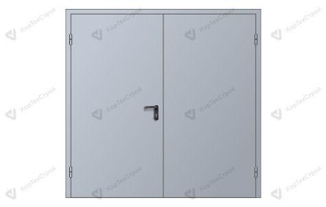 Техническая двустворчатая дверь