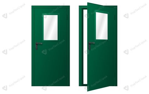 Техническая остекленная дверь