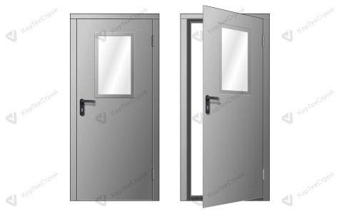 Техническая серая дверь