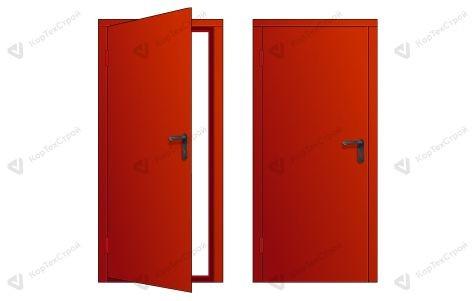 Однопольная красная дверь