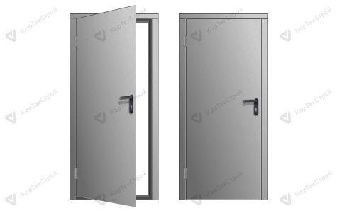 Одностворчатая техническая дверь RAL 7035