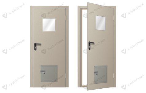 Дверь с клапаном давления нестандартный RAL