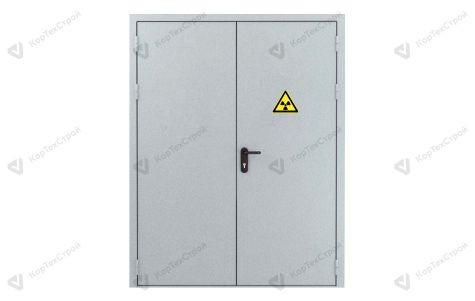 Дверь в рентген кабинет двустворчатая