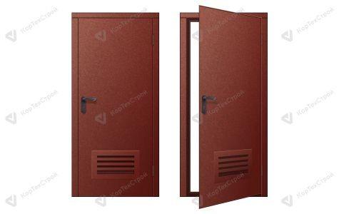 Дверь с вентрешеткой