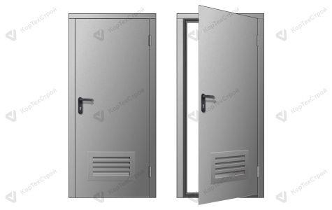 Техническая дверь с вент.решеткой
