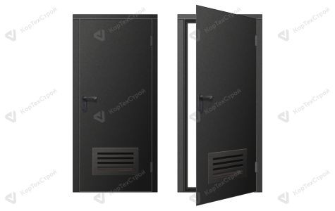 Дверь с вент.решеткой