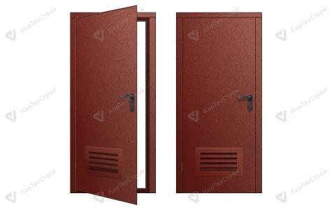 Пожарная дверь с вентиляционной решеткой