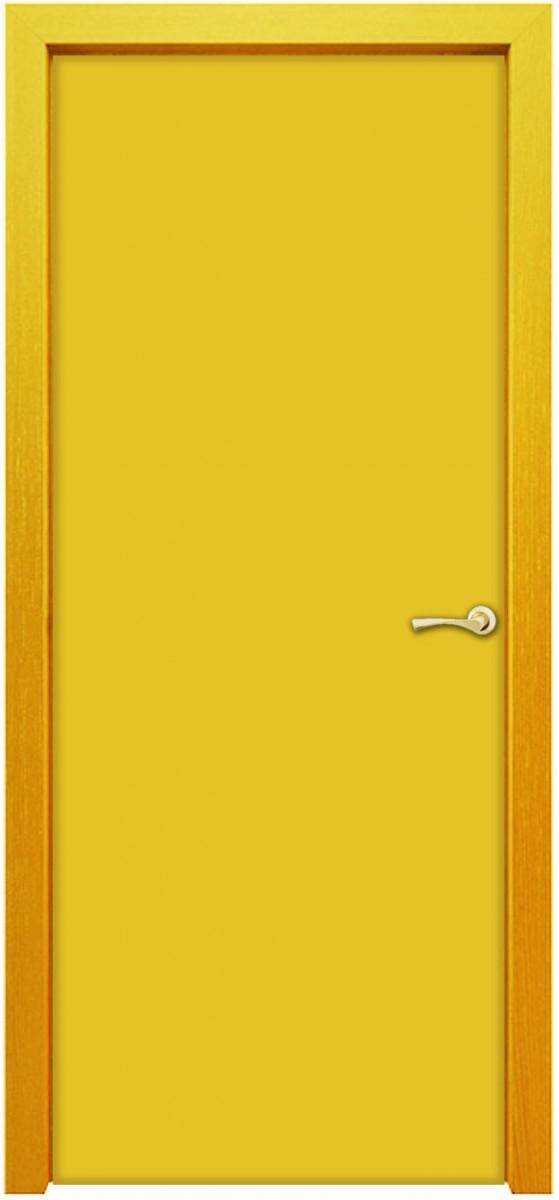Межкомнатная деревянная дверь облицованная декоративным пластиком