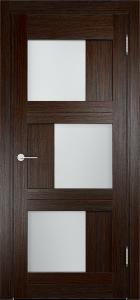 Дверь глухая экошпон со стеклом «Баден 10»