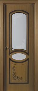 Шпонированные двери «Муза 1»  с остеклением
