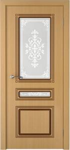 Шпонированные двери дуб со стеклом «Стиль1»