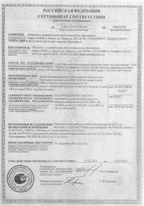 Сертификат двери ДПМ-1 (EI-30)